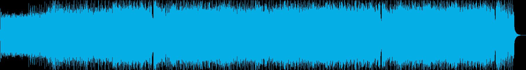 攻撃的なメロディックロックの再生済みの波形