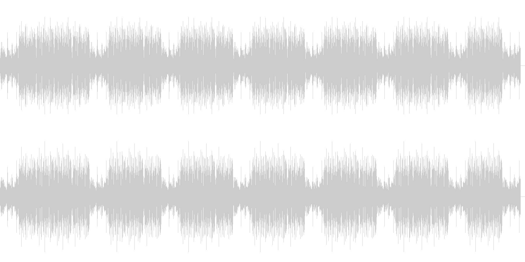 FPSゲームのキル集動画を作る際のBGMの未再生の波形