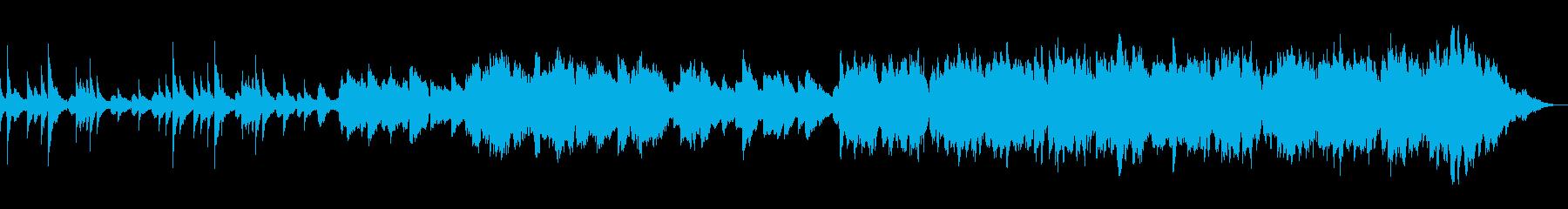 ピアノの木管のほのぼのした曲の再生済みの波形