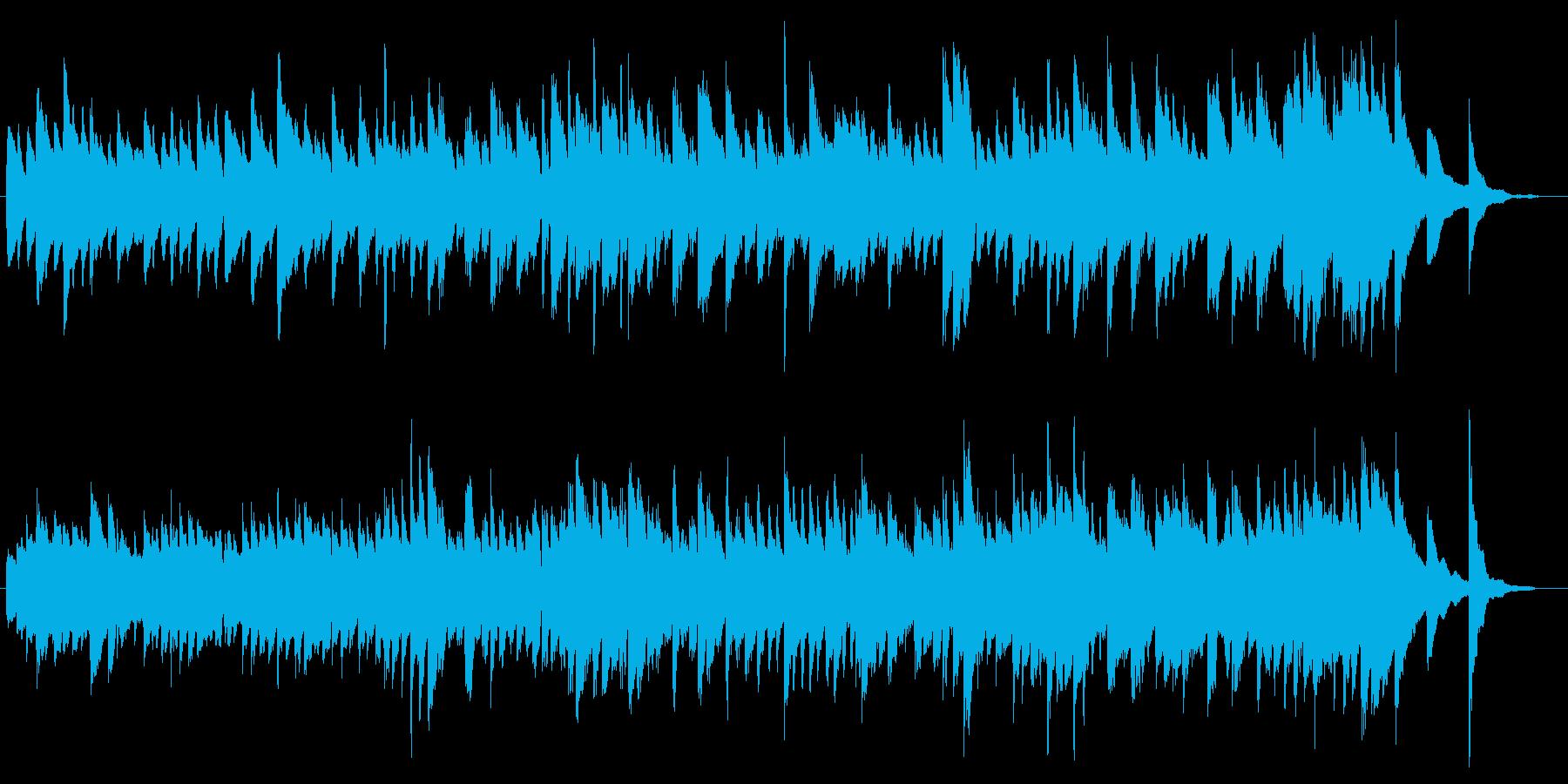 予期せぬことが起こりそうなピアノソロの再生済みの波形
