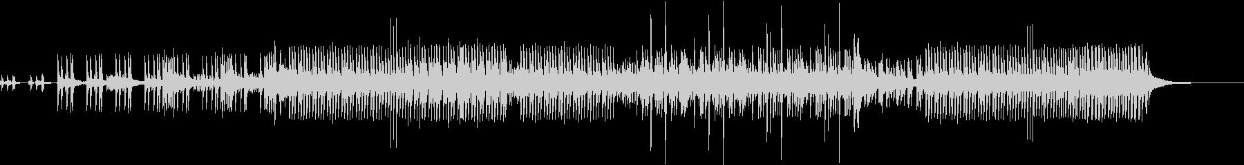 躍動感のあるドラムソロの未再生の波形