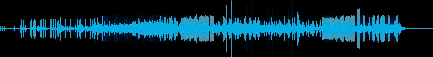 躍動感のあるドラムソロの再生済みの波形