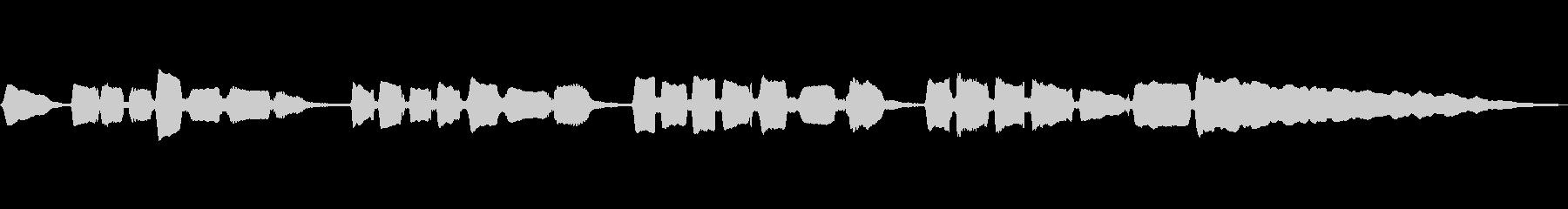 サックスのソロ演奏 切ないメロの未再生の波形