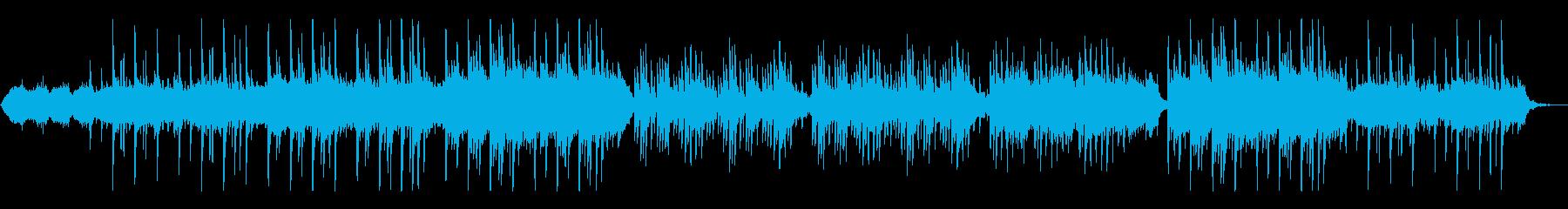 ゆったりしたシンセパッドとピアノの曲の再生済みの波形