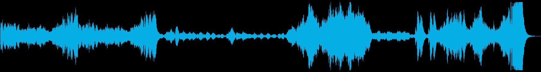 『古風なメヌエット』オーケストラ版冒頭の再生済みの波形