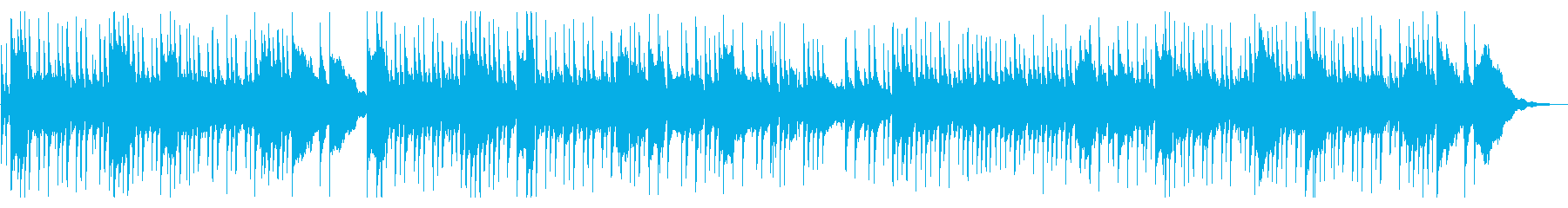 三線と沖縄民謡の再生済みの波形
