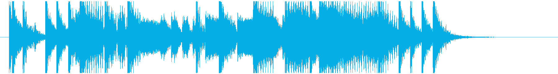ワウギターによるファンキーなジングルの再生済みの波形