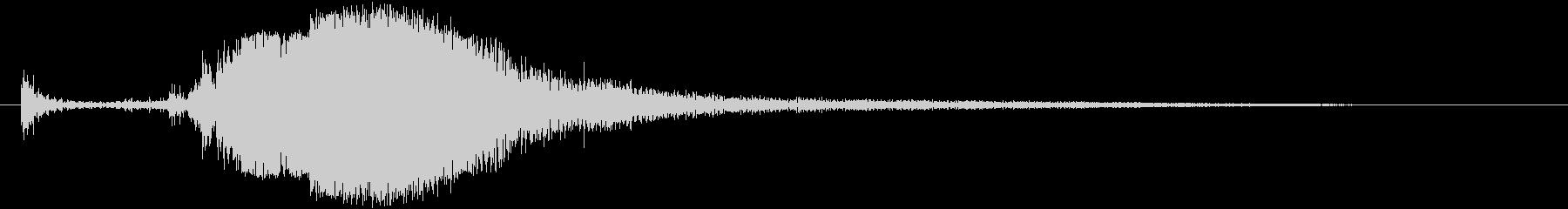 剣を抜く音#2の未再生の波形