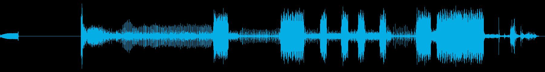 FAXマシン、受信、オフィス; D...の再生済みの波形