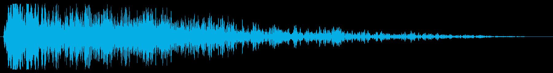 ビシューン(通過の音)の再生済みの波形