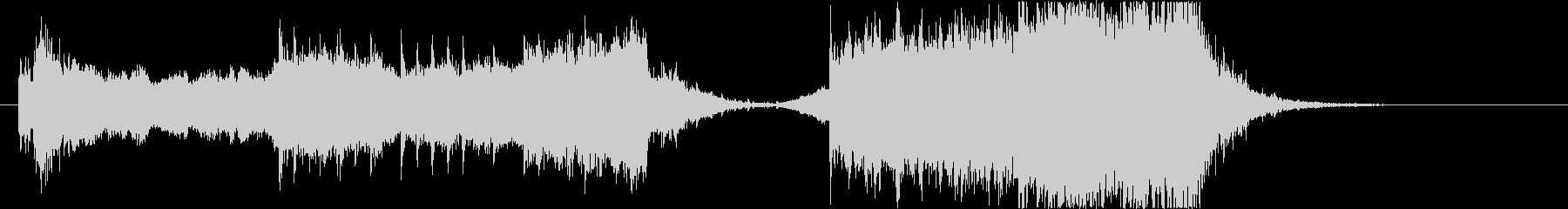 民族楽器を使用した激しいオープニング曲の未再生の波形