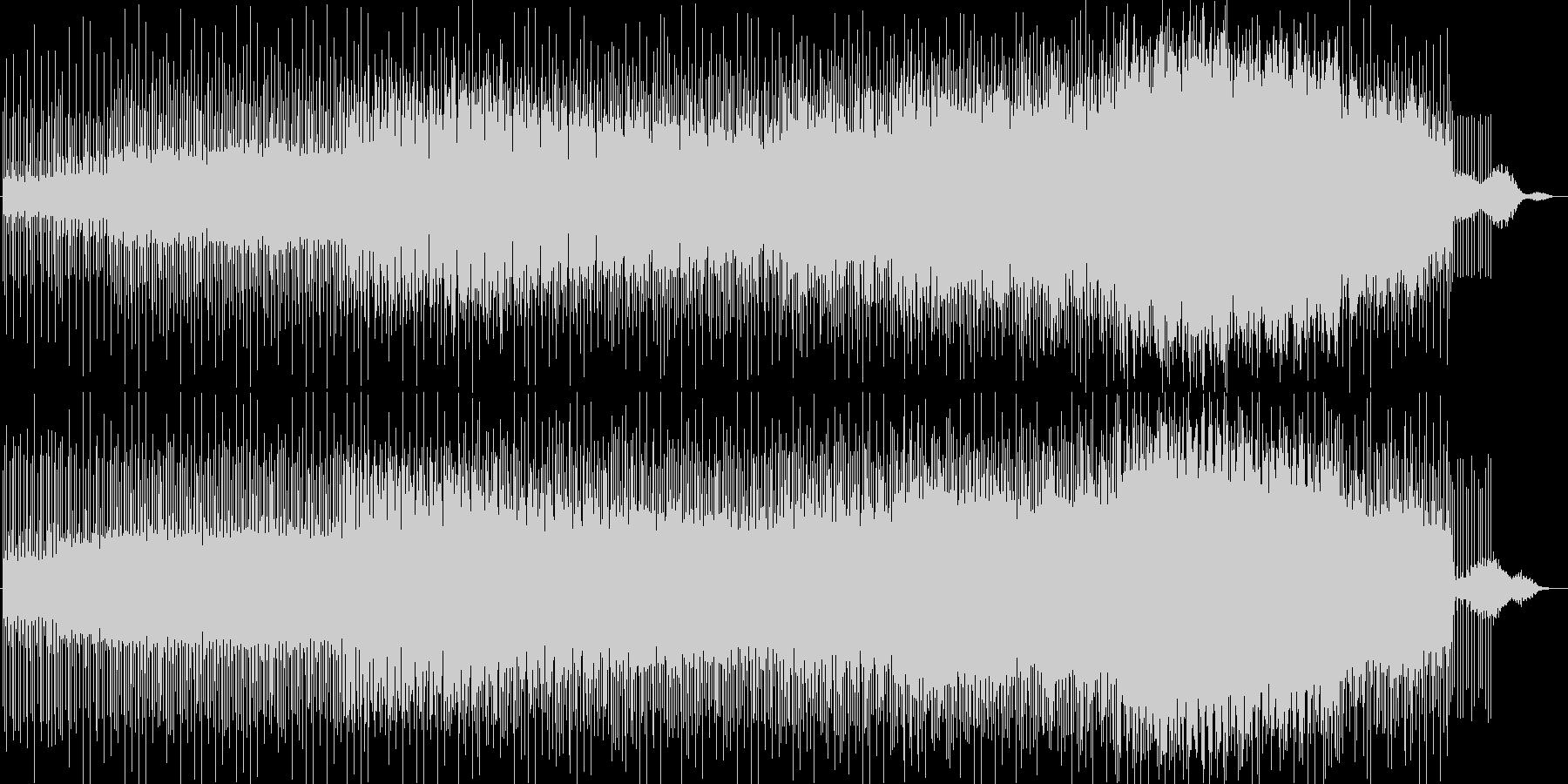 緩やかでリズミカルなシンセサウンドの未再生の波形