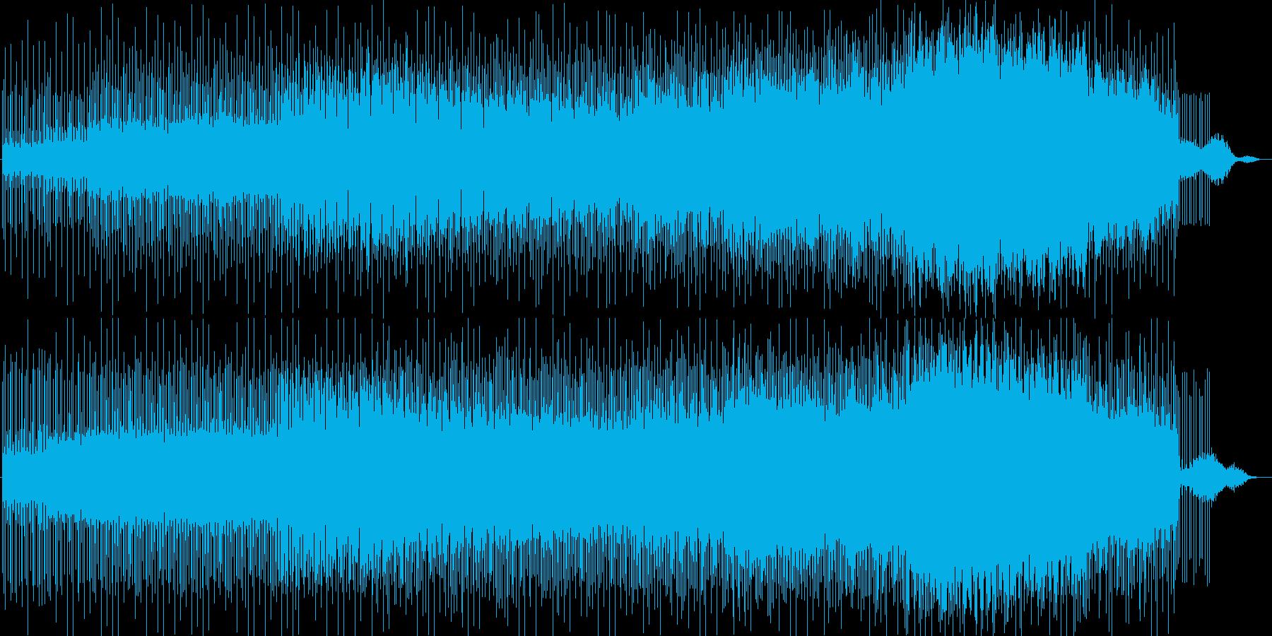 緩やかでリズミカルなシンセサウンドの再生済みの波形