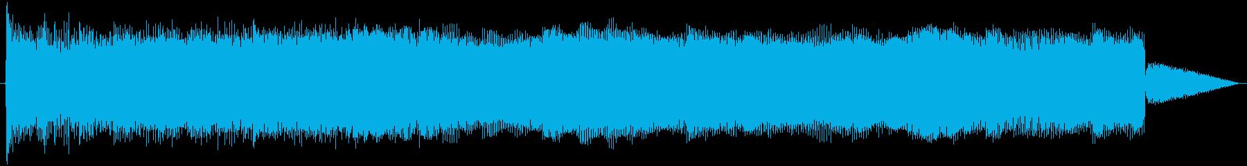 アタックによるトーン変調クイックア...の再生済みの波形