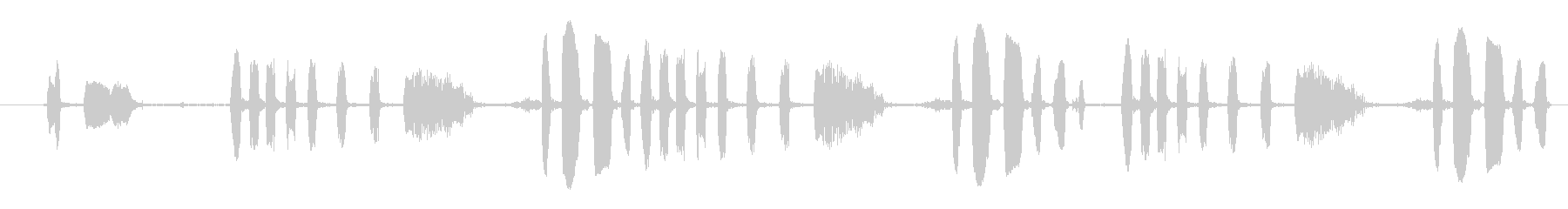 クレイジーピエロラフターの未再生の波形