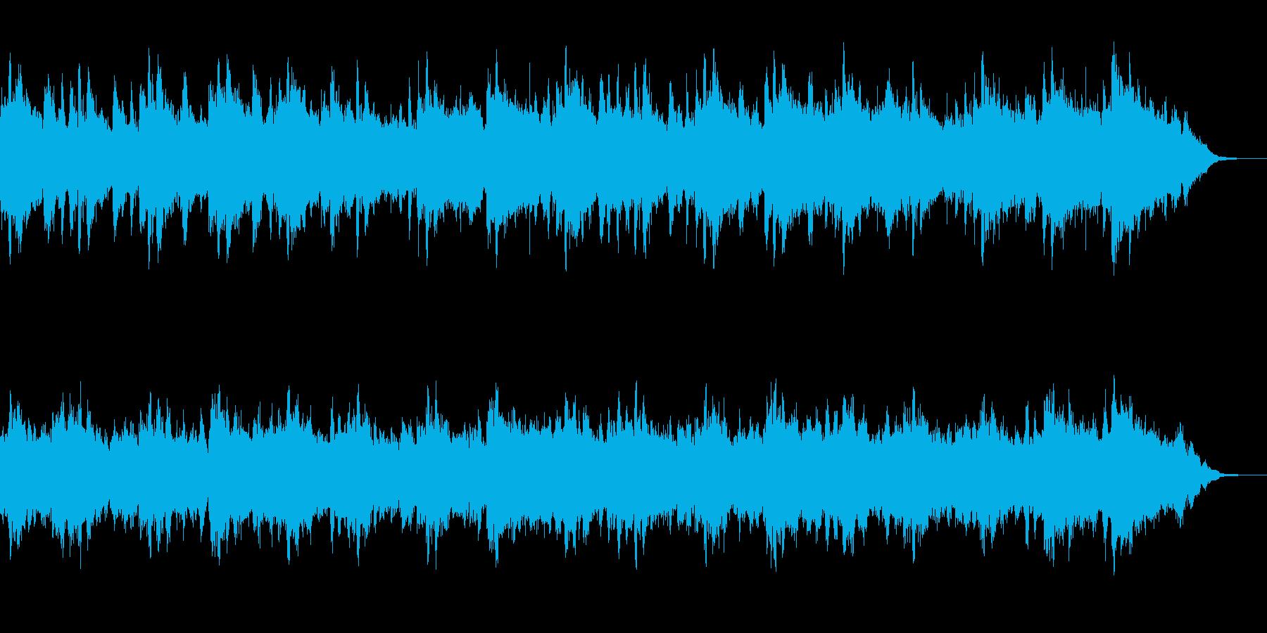 幻想的で落ち着いたアンビエント4の再生済みの波形