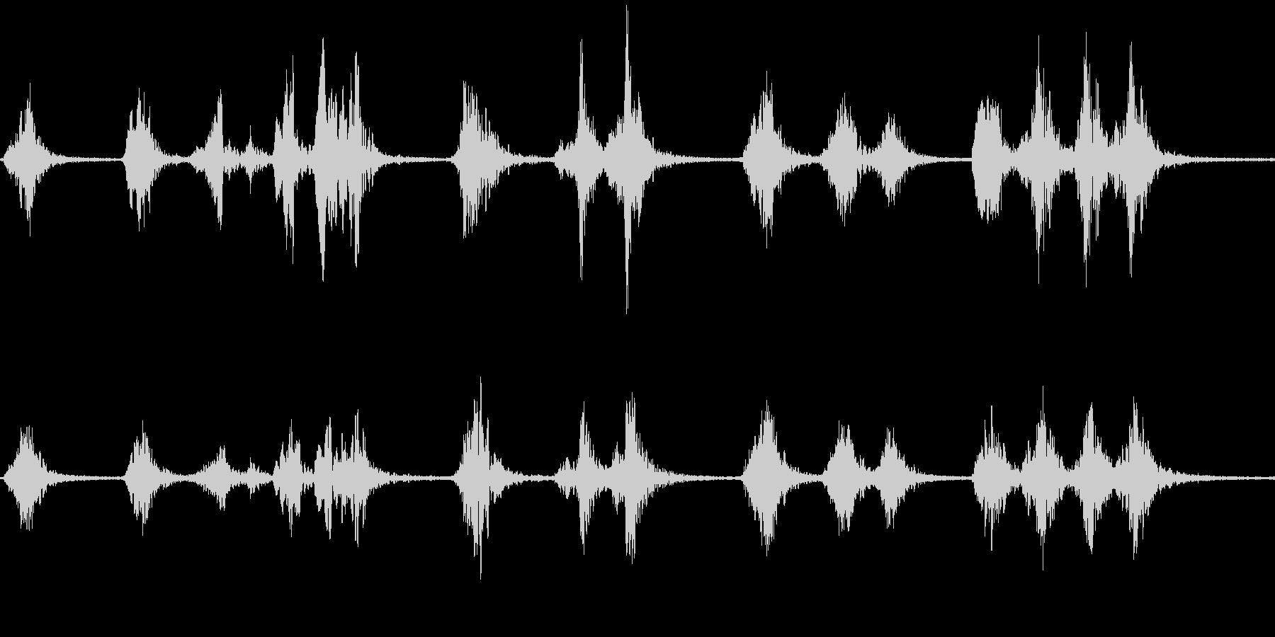 サンコウチョウのさえずり(林に棲む鳥)の未再生の波形