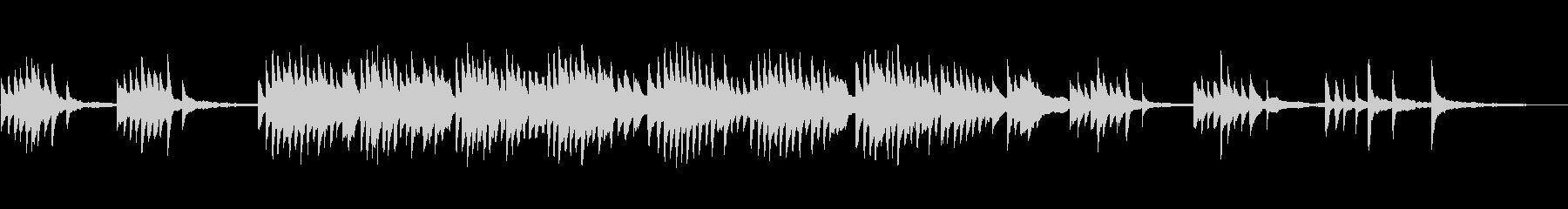 切ないファンタジー系のピアノソロ曲の未再生の波形