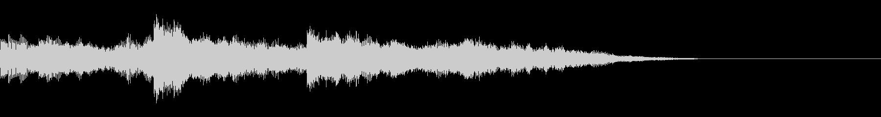 オーガニックなオープニングサウンドロゴ3の未再生の波形