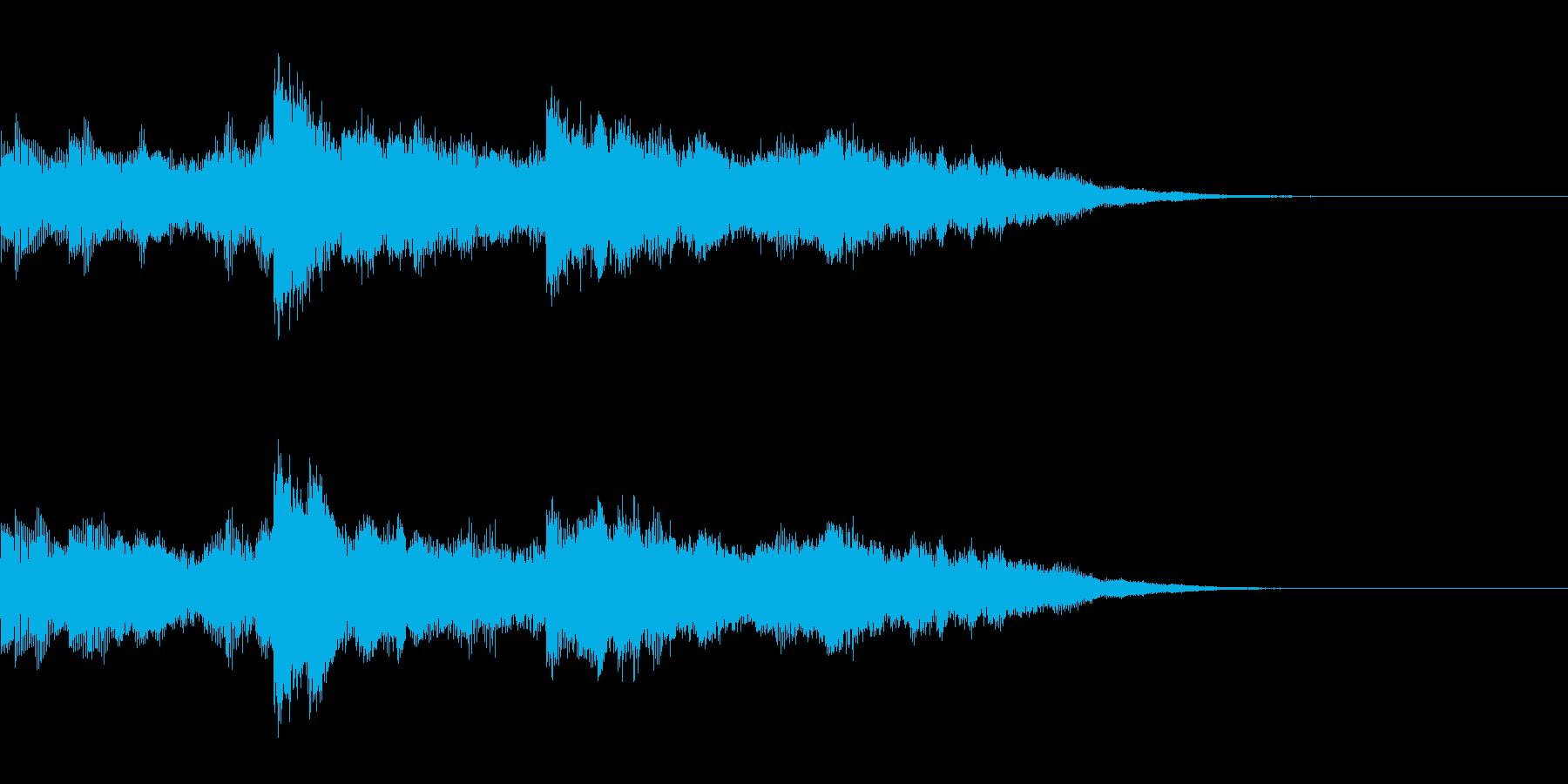 オーガニックなオープニングサウンドロゴ3の再生済みの波形