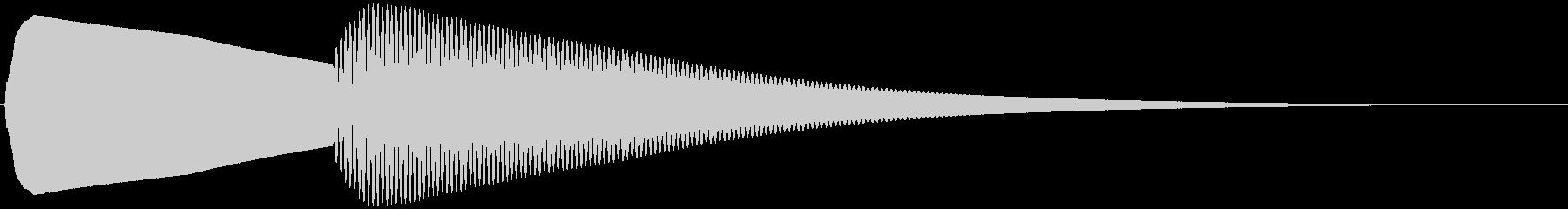 玄関チャイム ピンポーン(柔らかめ)の未再生の波形