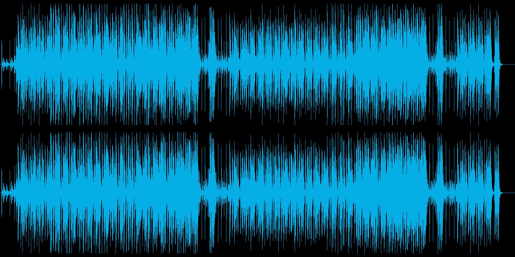 5拍子のジャズの再生済みの波形