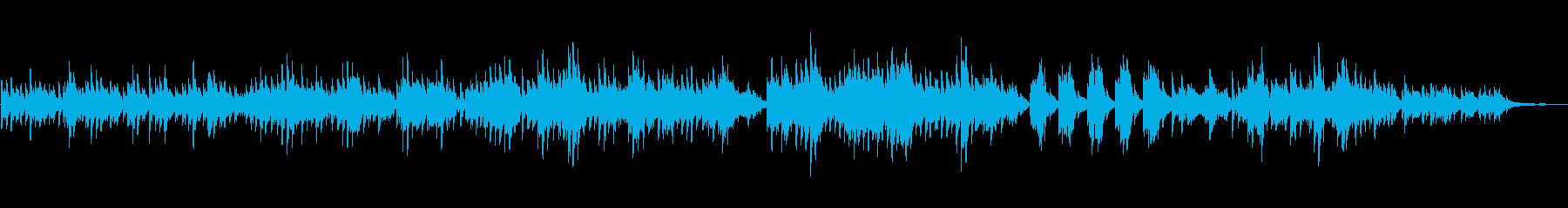生ピアノソロ・枯葉がはらはら落ちるの再生済みの波形