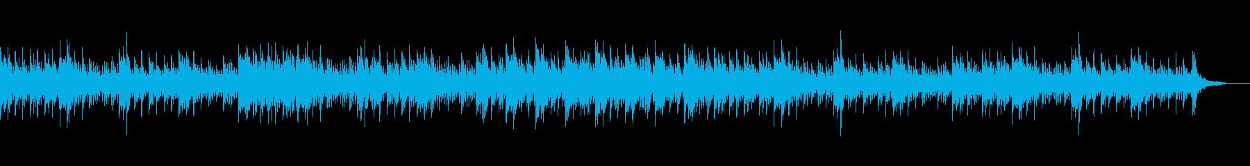 ピアノとマリンバの知的で落ち着いたBGMの再生済みの波形