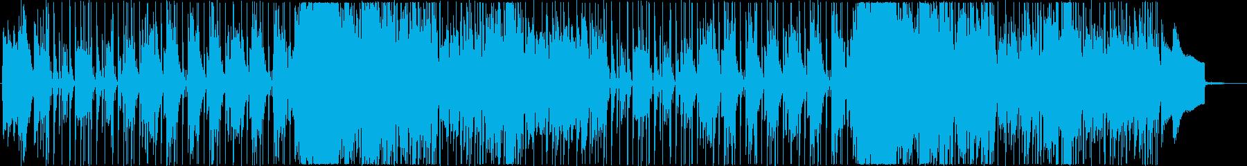 生演奏フルートの大人びたジャズ・ファンクの再生済みの波形