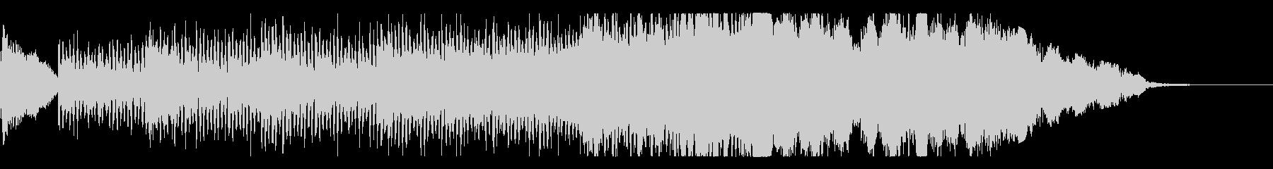 緊張感ある弦のシーケンスとオーケストラの未再生の波形