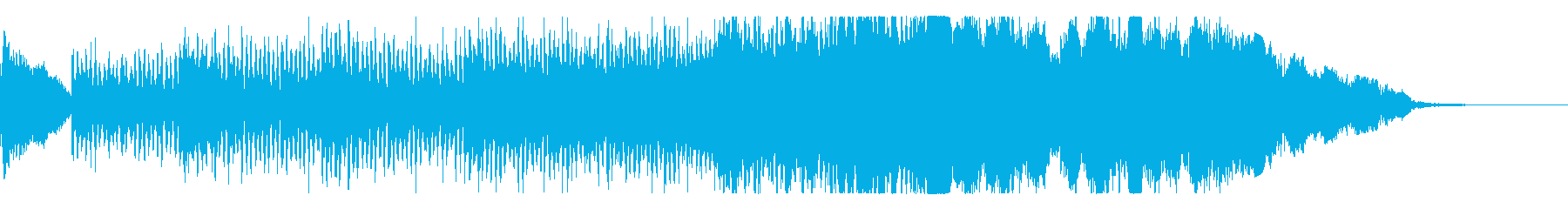 緊張感ある弦のシーケンスとオーケストラの再生済みの波形