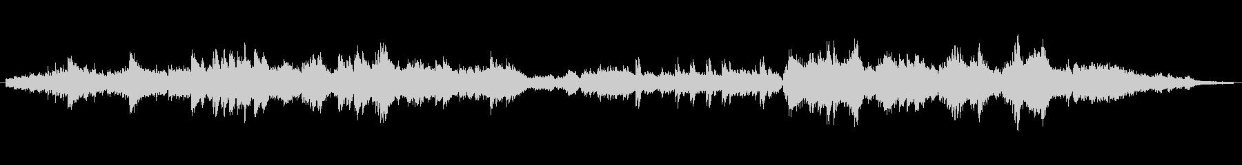 雄大なイメージのオープニング用ピアノソロの未再生の波形