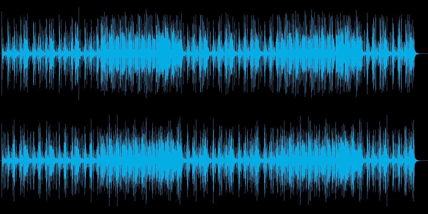 軽快なリズムが特徴のポップスの再生済みの波形
