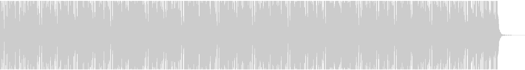 CHILLOUTの未再生の波形