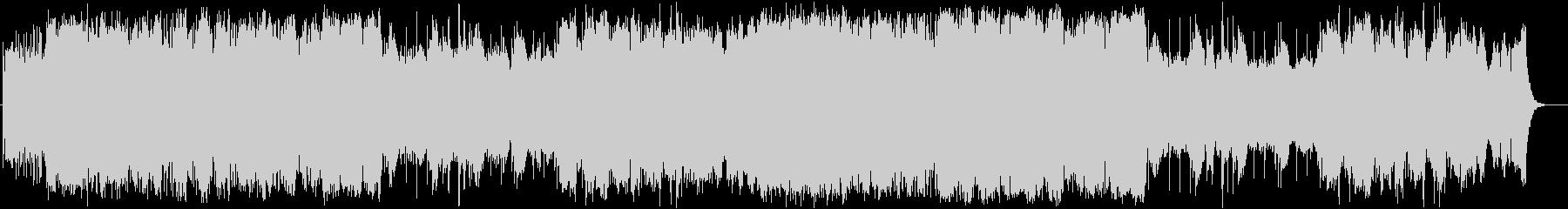 緊張感のあるシネマティックなBGMの未再生の波形