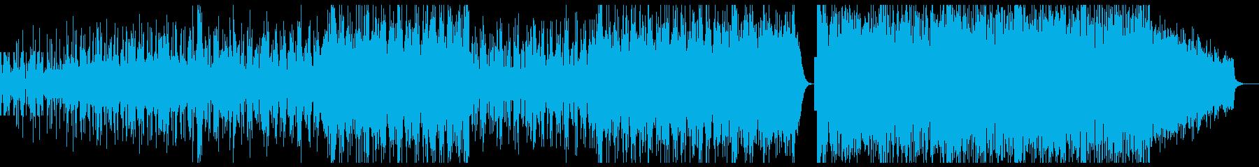 和をベースにしたヒーリングミュージックの再生済みの波形