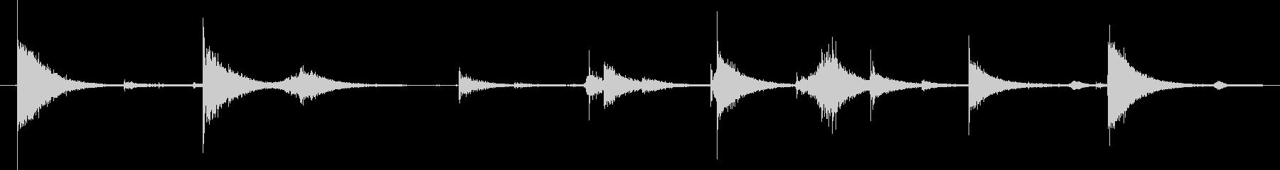 剣 01 ヒットソードシーケンス04の未再生の波形