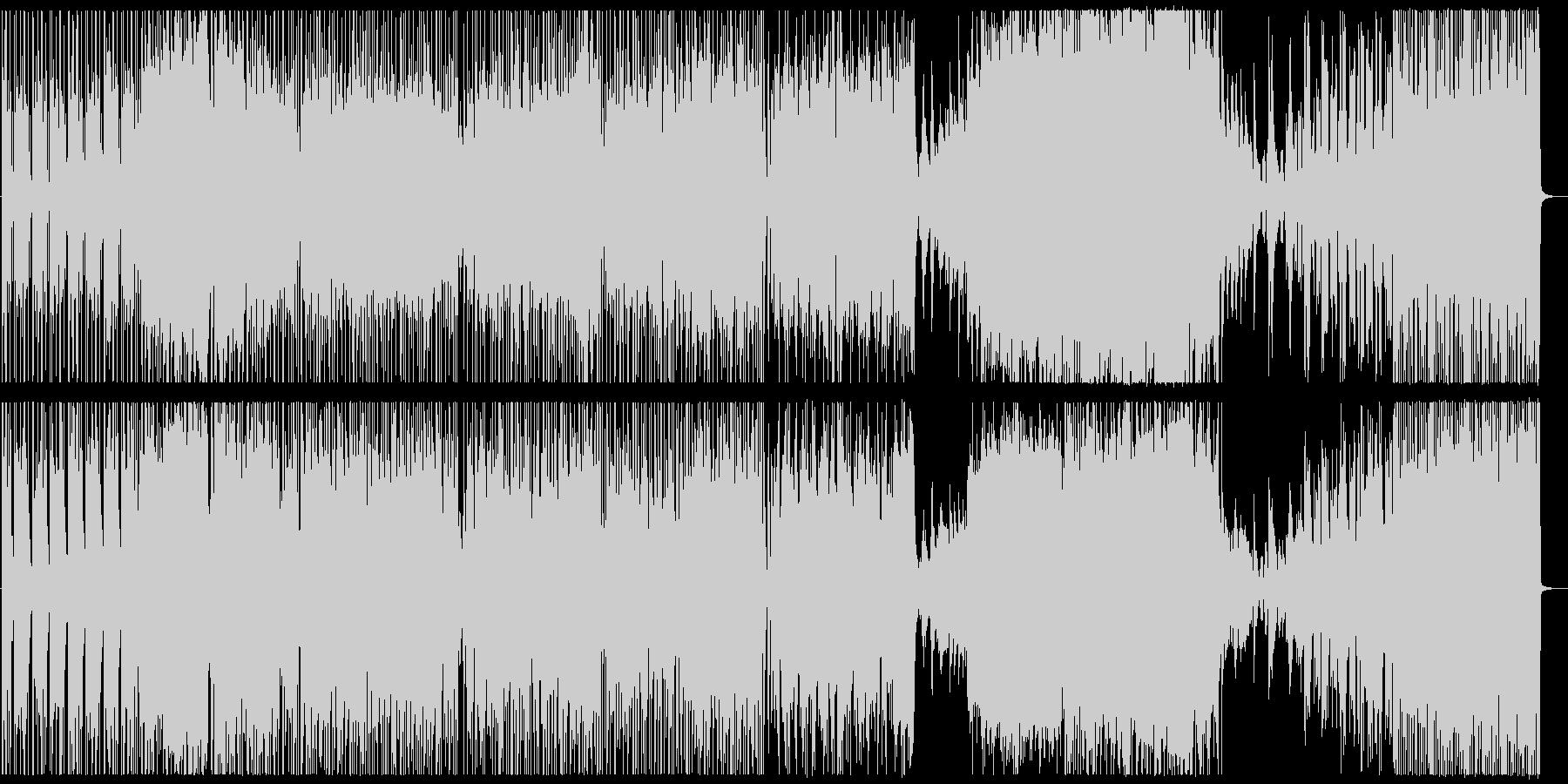 ピアノソナタのfusionアレンジの未再生の波形