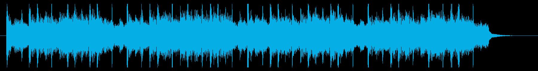 ピアノメロディの爽やかなショートBGMの再生済みの波形