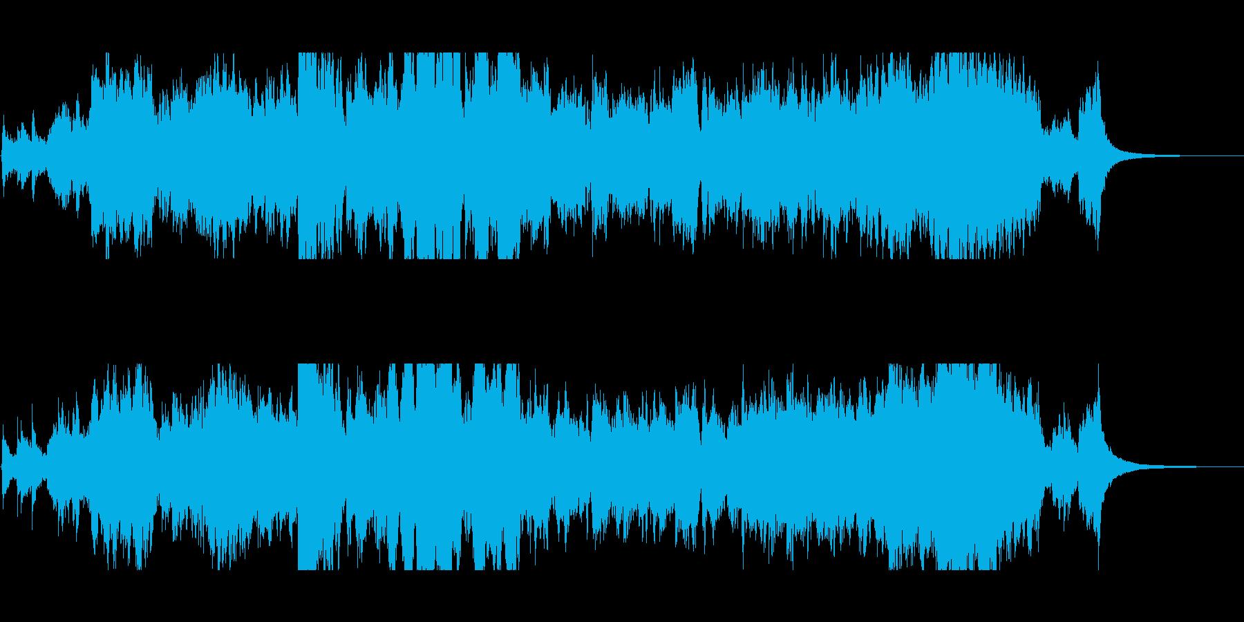 生バイオリンと金管の雄大なオープニングの再生済みの波形