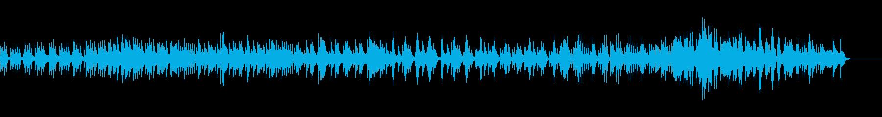 テンポ感あるハープ曲の再生済みの波形
