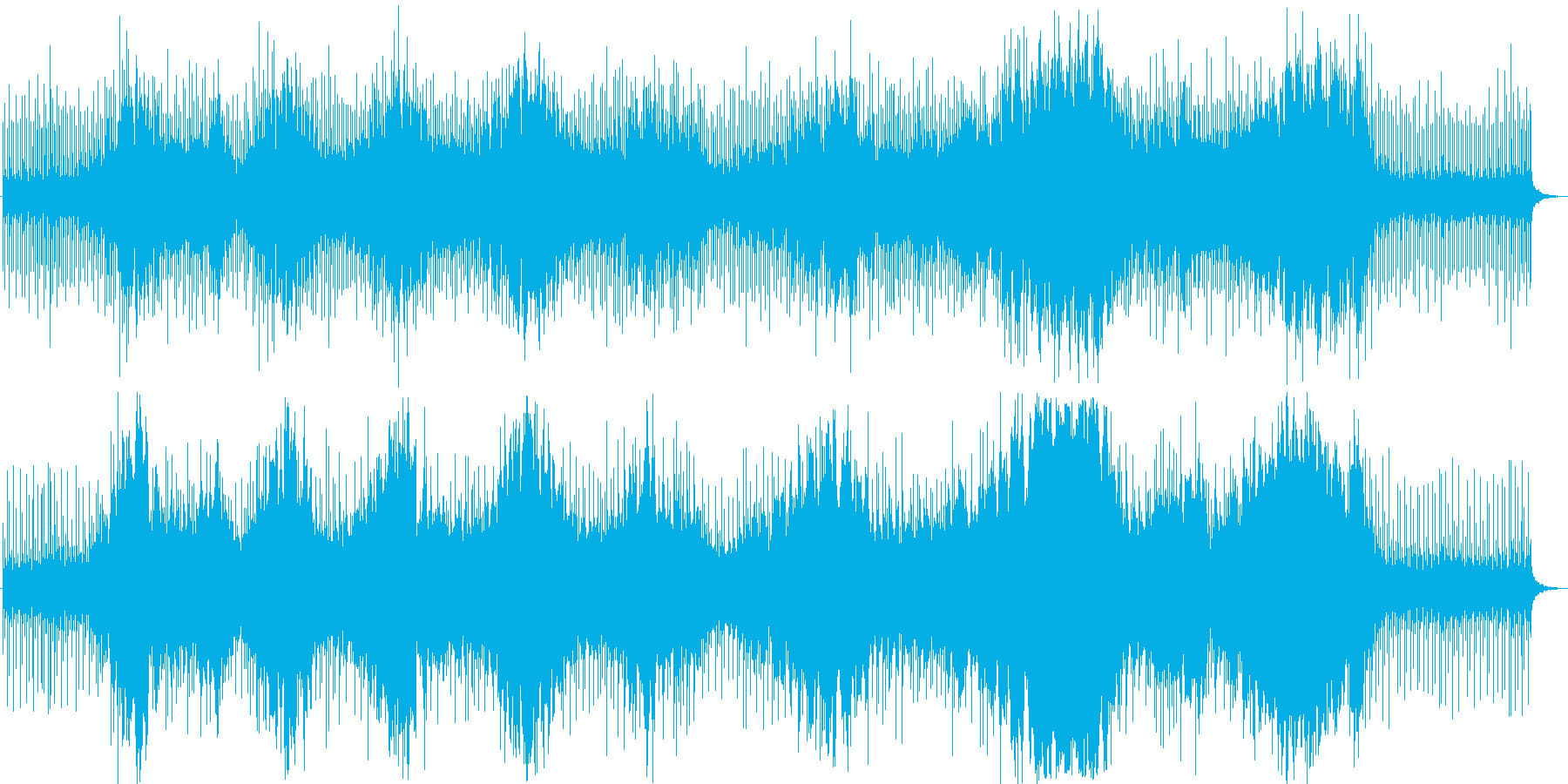 幻想的なBGMの再生済みの波形