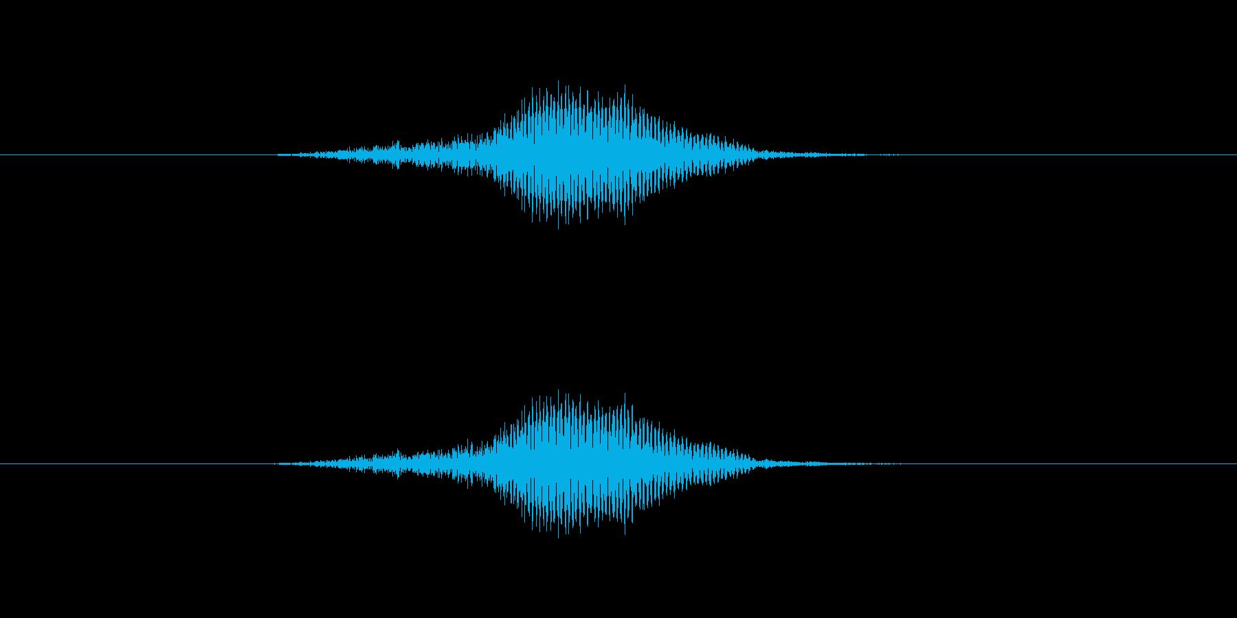 ふっ の再生済みの波形