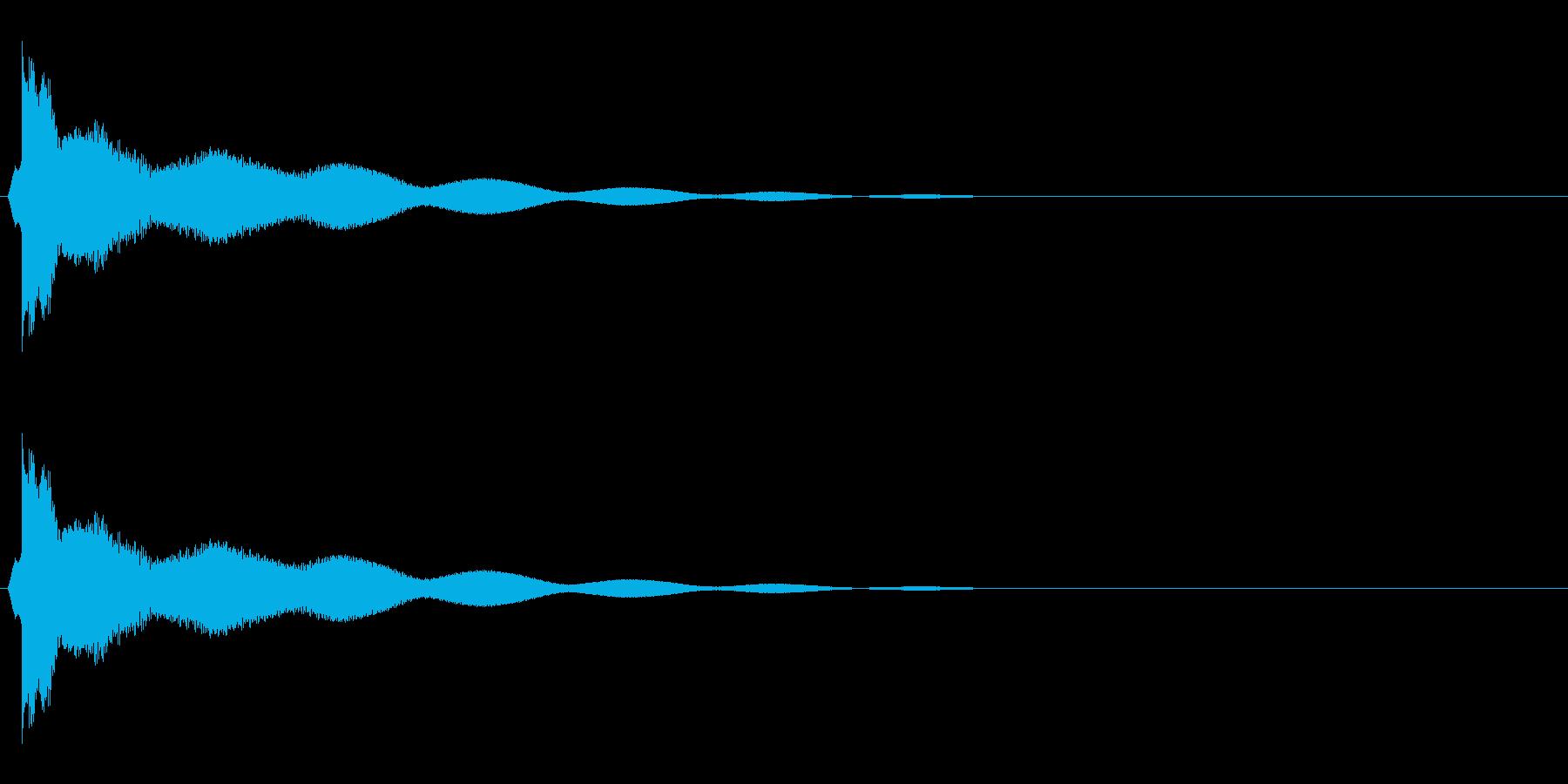 チーン_ギャグ_ベルの再生済みの波形