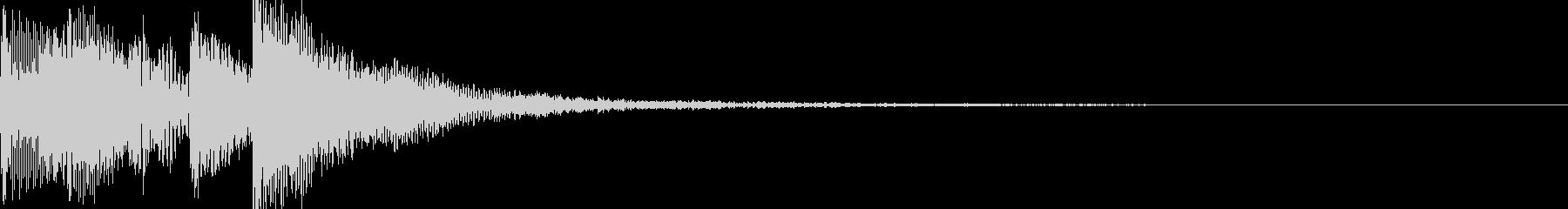 ポップアップ 決定音系 堅めの音 001の未再生の波形