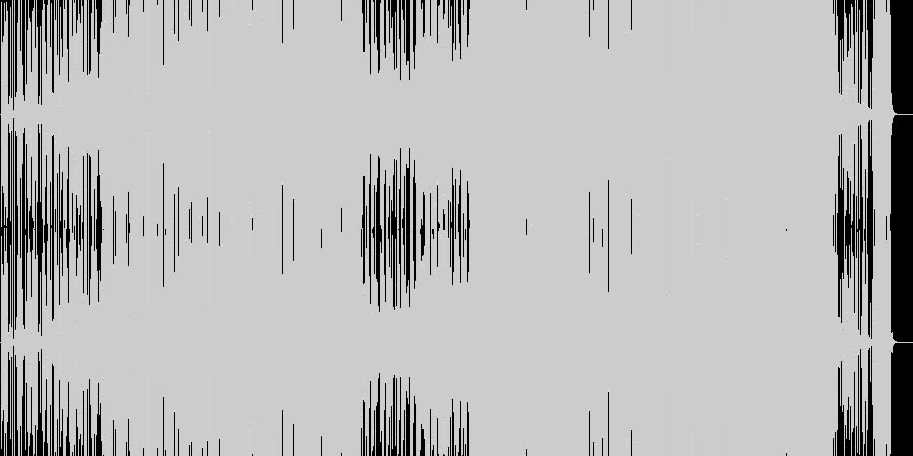 ノリの良い踊れるEDM(シンセボイス入)の未再生の波形