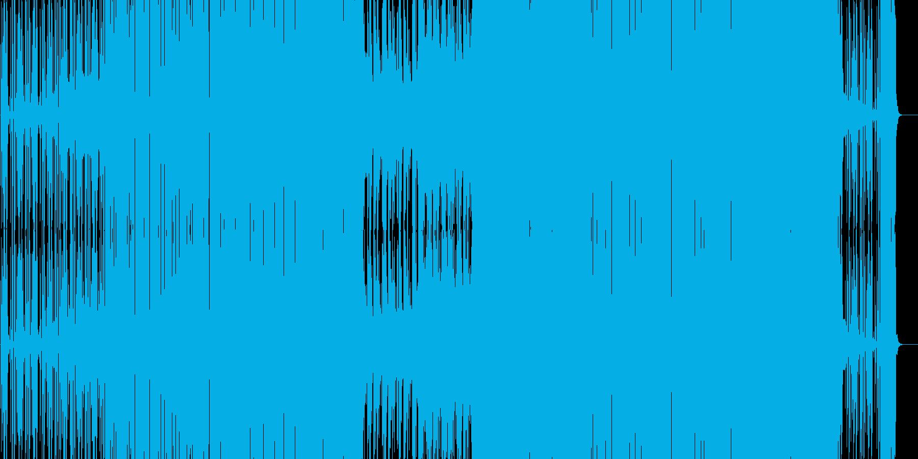 ノリの良い踊れるEDM(シンセボイス入)の再生済みの波形