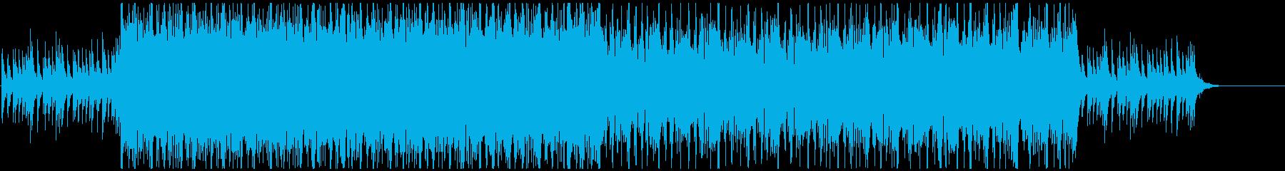 哀愁漂うデジタル系ロックバラード曲の再生済みの波形