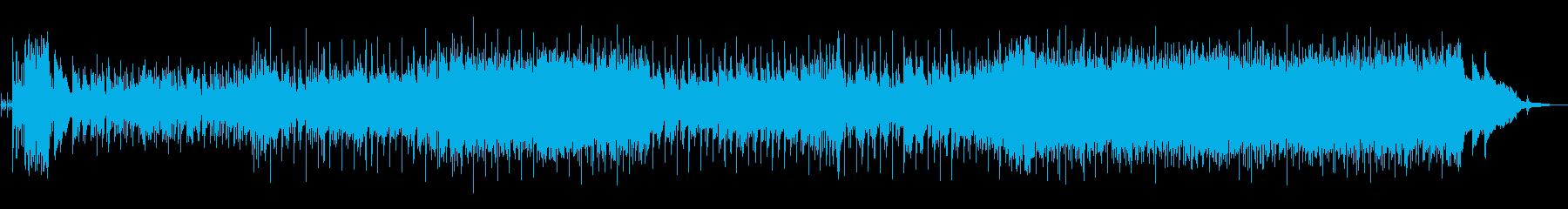 ほのぼのした雰囲気のミドルテンポポップスの再生済みの波形