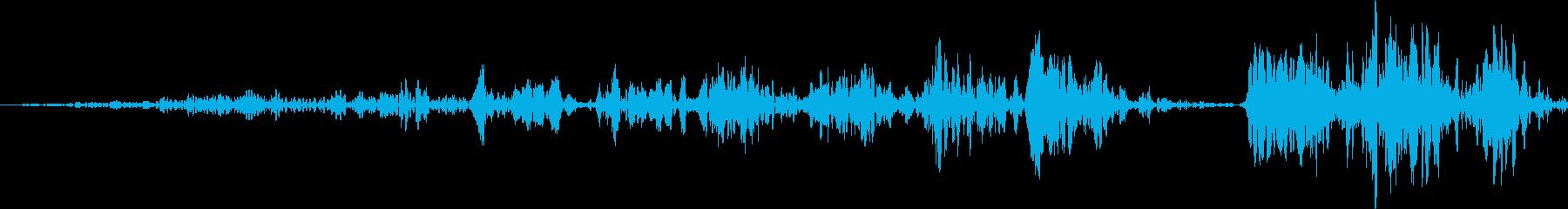 遅いフィルターが開いているの再生済みの波形
